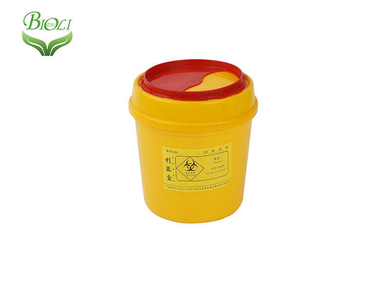 Litro redondo Sharp contenedor 100 / caja